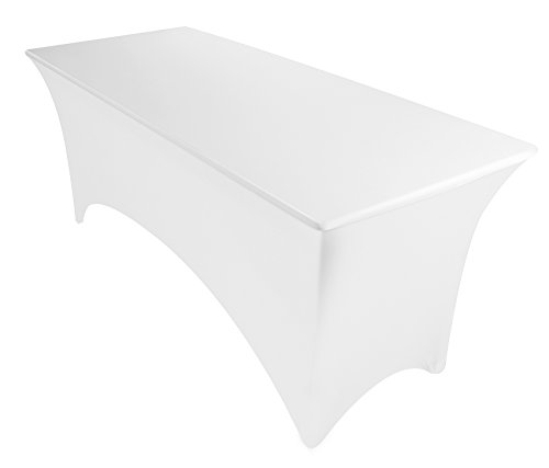 6ft Tablecloth Black And White Set Of 2 Stretch